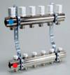 Коллектор регулируемый (2 шт.) с трубной резьбой для теплого пола с расходомерами (в комплект входят) к соед. TP 98, TP 99
