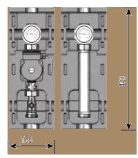 Насосная группа V-UK , прямой контур (подача слева)