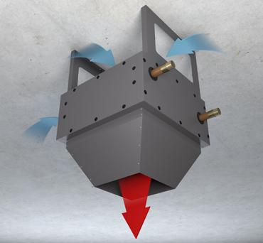 Сопловой модуль в виде конуса VHNC.